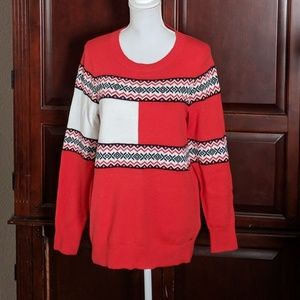 Tommy Hilfiger snowflake sweater size Large